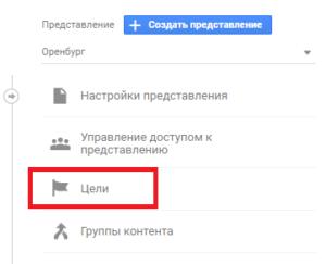 установка целей Гугл Аналитикс